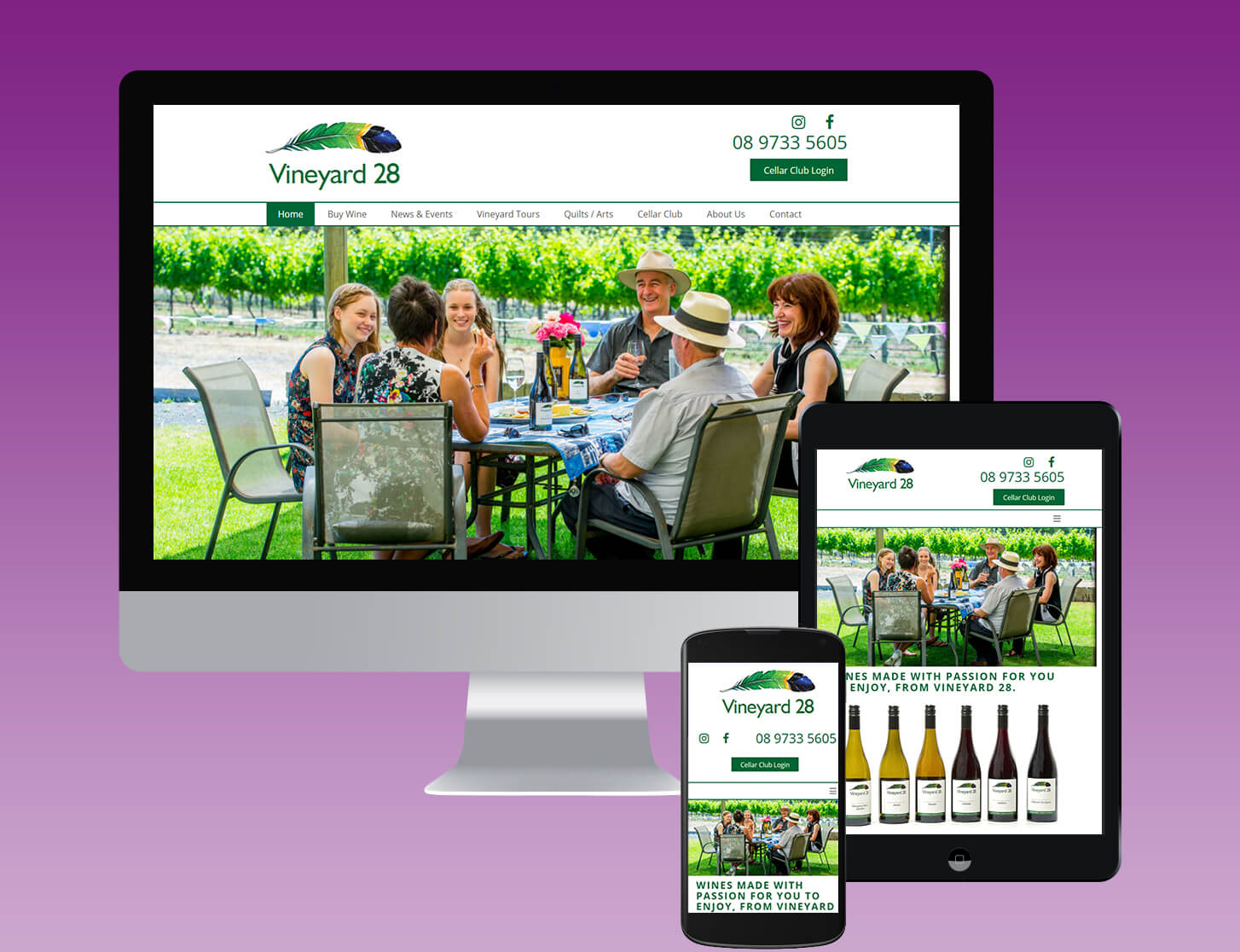 Vineyard28 website by CATCO Enterprises