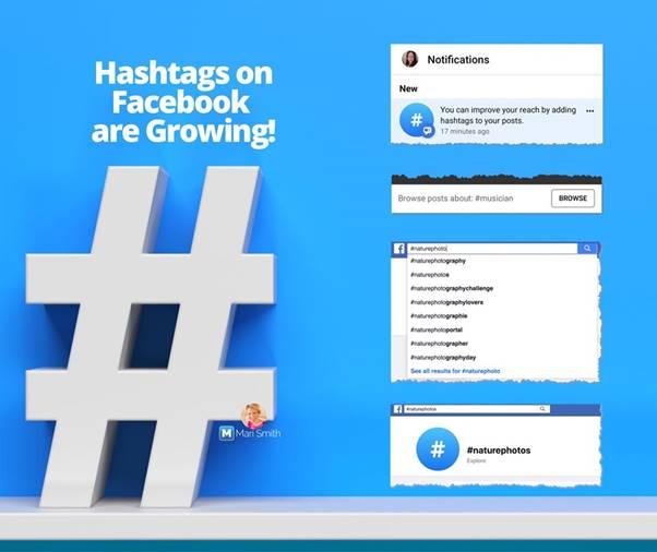 Hashtag on Facebook